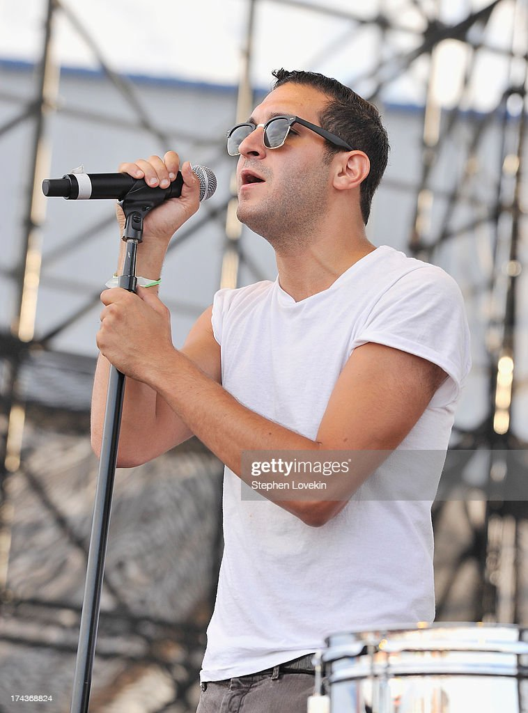 Singer Alex Frankel of Holy Ghost performs at Williamsburg Park on July 24, 2013 in Brooklyn, New York.
