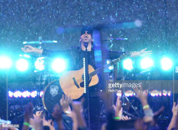 Singer Alex Gaskarth of All Time Low performs onstage during the 2017 MTV Movie And TV Awards Festival at The Shrine Auditorium on May 7 2017 in Los...
