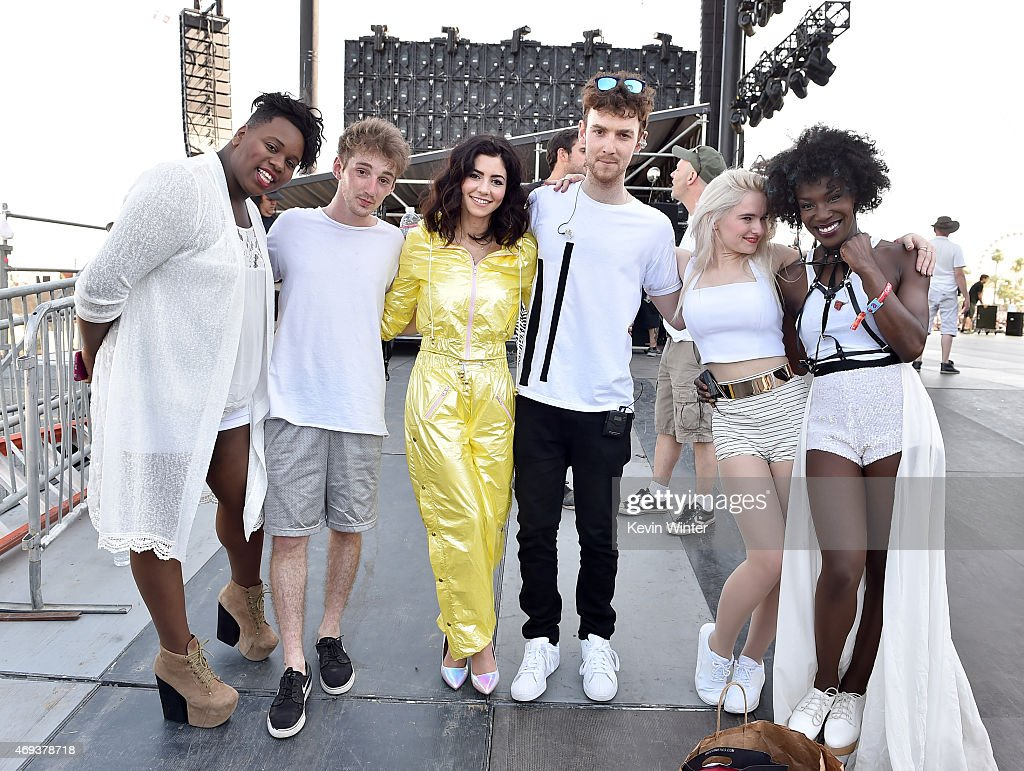 Singer Alex Newell musician Luke Patterson singer Marina Lambrini Diamandis musician Jack Patterson singers Grace Chatto and Elisabeth Troy of Clean...