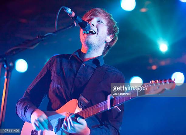 Singer Alex Trimble of the Irish band Two Door Cinema Club performs live during a concert at the Astra on November 24 2010 in Berlin Germany