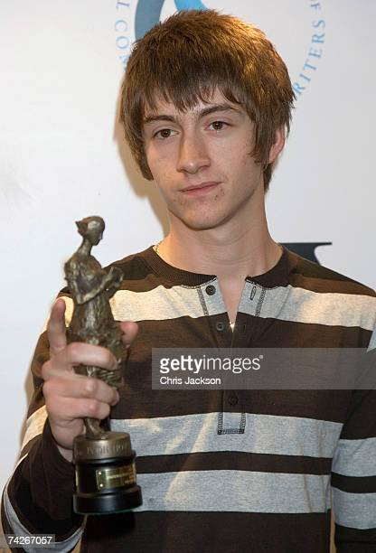 Singer Alex Turner of the Arctic Monkeys poses with his award for Best Album at the Ivor Novello Awards at the Grovesnor House Hotel on May 24 2007...