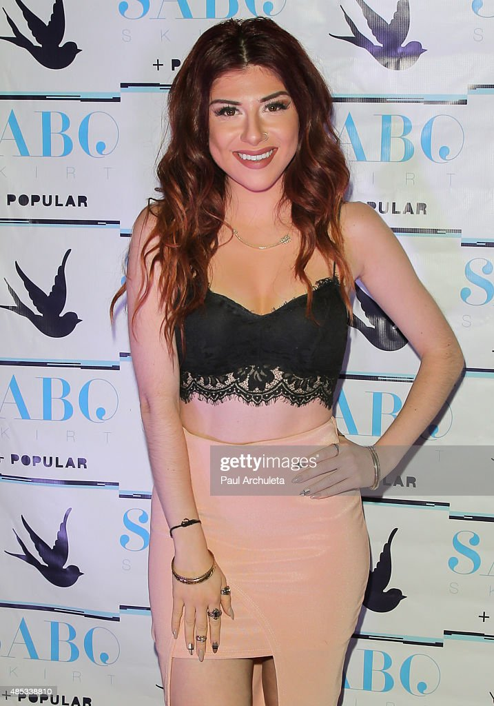 Singer Alexa Ferr attends Sabo Skirt's 2015 PreVMA Party at SkyBar at the Mondrian Los Angeles on August 26 2015 in West Hollywood California