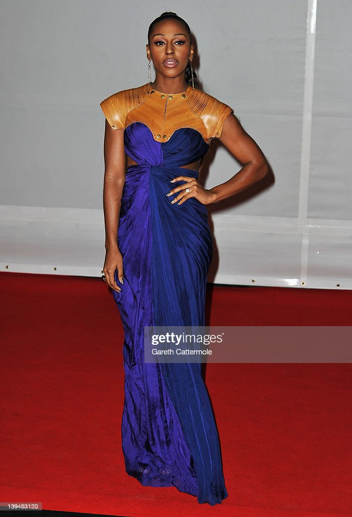 Singer Alexandra Burke attends The BRIT Awards 2012 at the O2 Arena on February 21, 2012 in London, England.