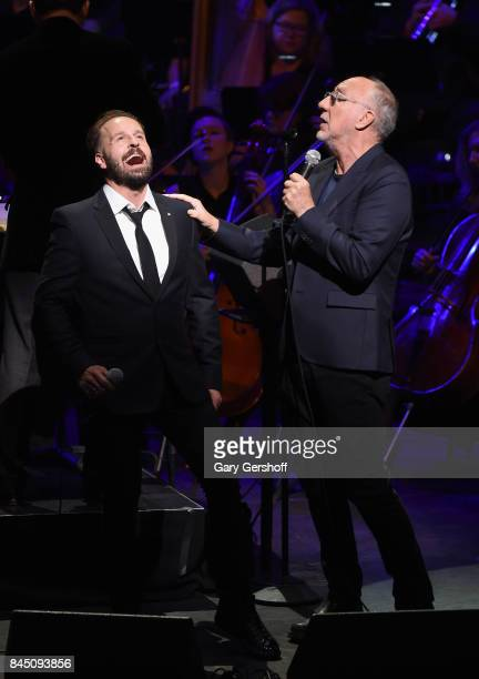 Singer Alfie Boe and Pete Townshend perform 'Classic Quadrophenia' on stage at The Metropolitan Opera House on September 9 2017 in New York City