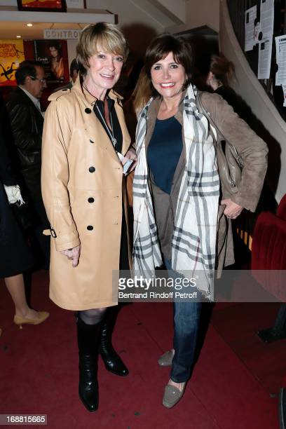 Singer Alice Dona and Singer Liane Foly attend 'Ninon Lenclos ou La Liberte' Theater Play on May 15 2013 in Paris France