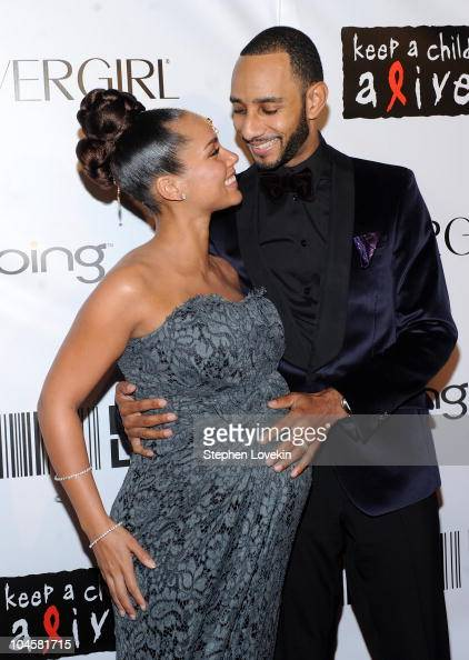 Singer Alicia Keys and husband producer Swizz Beatz attend the 2010 Keep A Child Alive's Black Ball at the Hammerstein Ballroom on September 30 2010...