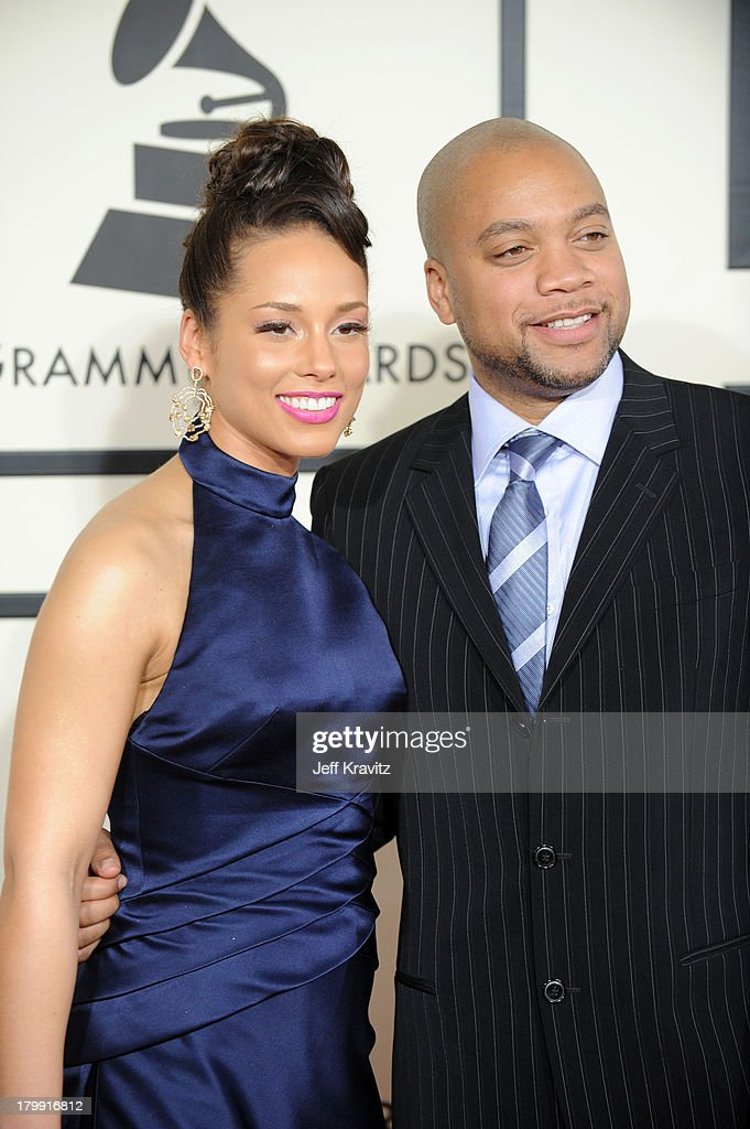 Singer Alicia Keys and Kerry Brothers arrives to the 50th Annual GRAMMY Awards at the Staples Center on February 10 2008 in Los Angeles California