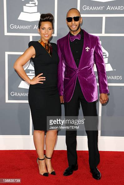 Singer Alicia Keys and producer Swizz Beatz arrive at the 54th Annual GRAMMY Awards held at Staples Center on February 12 2012 in Los Angeles...