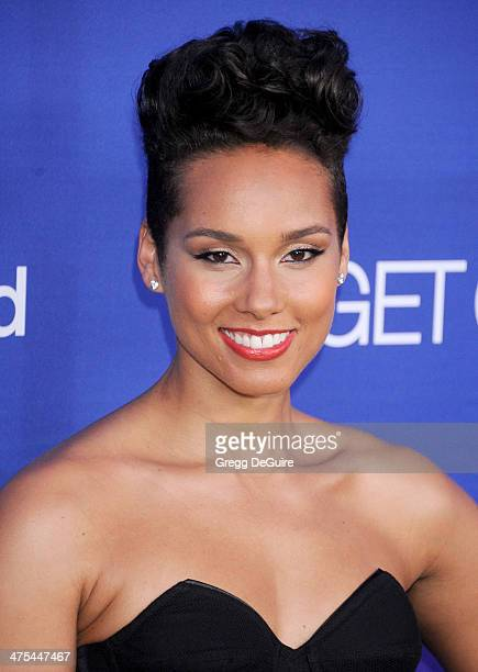 Singer Alicia Keys arrives at the 1st Annual Unite4humanity event hosted by Unite4good and Variety at Sony Studios on February 27 2014 in Los Angeles...