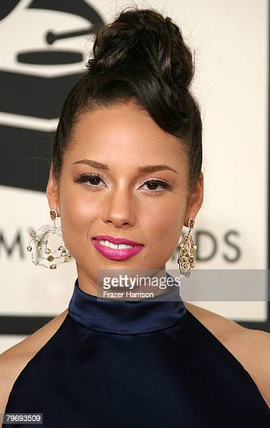 Singer Alicia Keys arrives at the 50th annual Grammy awards held at the Staples Center on February 10 2008 in Los Angeles California