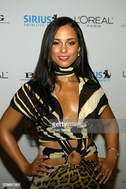 Singer Alicia Keys arrives at the Clive Davis annual Grammy® party at the Beverly Hills Hotel