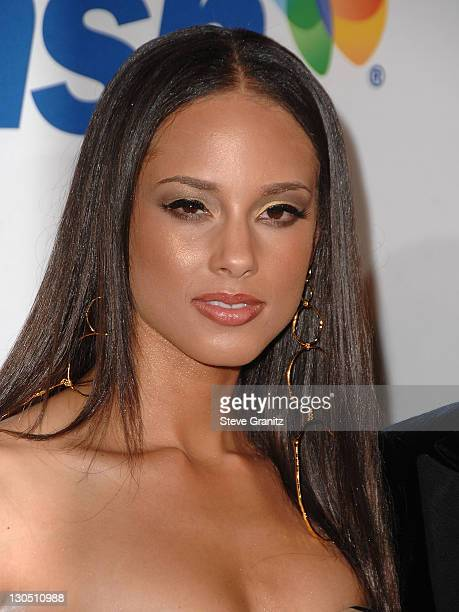 Singer Alicia Keys attends the 2008 Clive Davis PreGRAMMY party at the Beverly Hilton Hotel on February 9 2008 in Los Angeles California