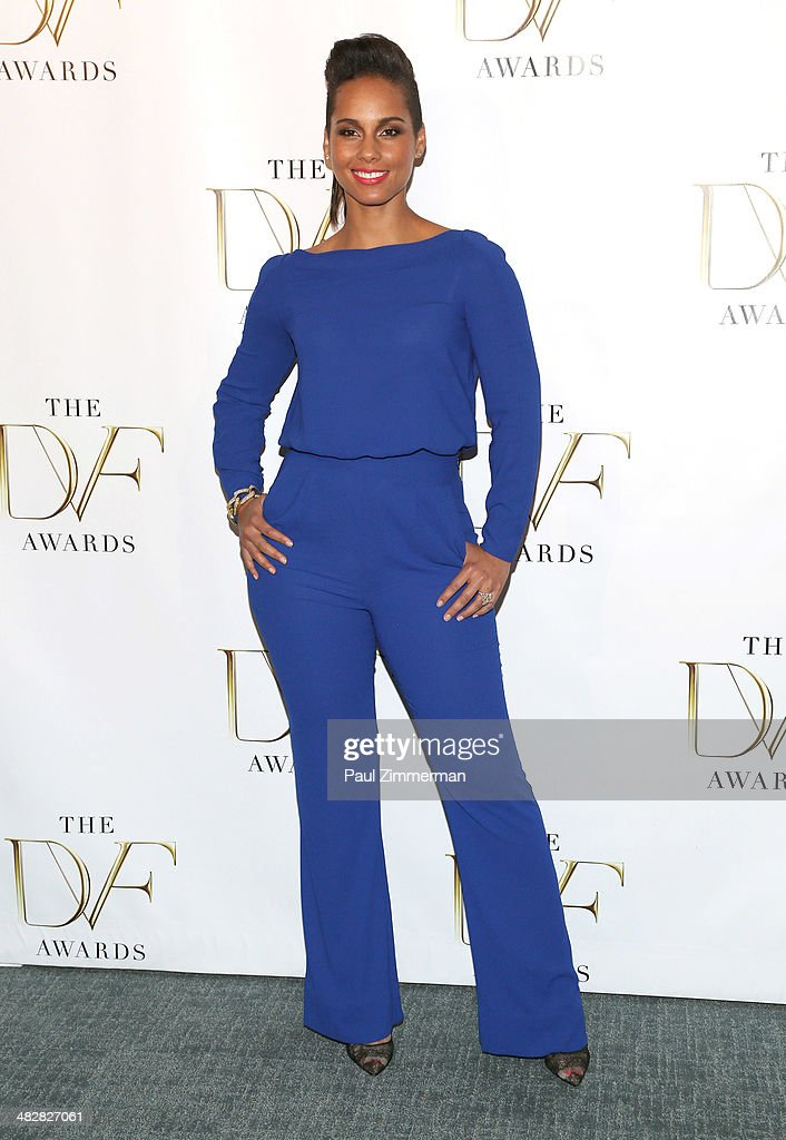 Singer Alicia Keys attends the 2014 DVF Awards at the United Nations on April 4 2014 in New York City