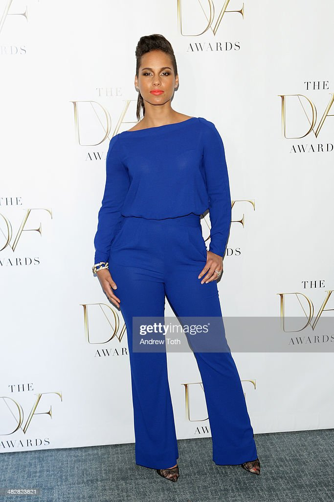 Singer Alicia Keys attends the 2014 DVF Awards on April 4 2014 in New York City