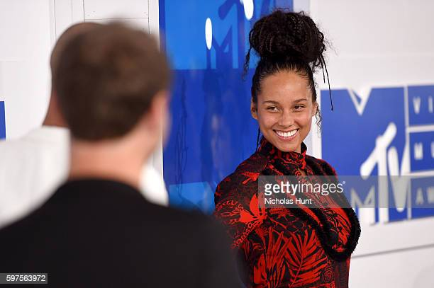 Singer Alicia Keys attends the 2016 MTV Video Music Awards at Madison Square Garden on August 28 2016 in New York City