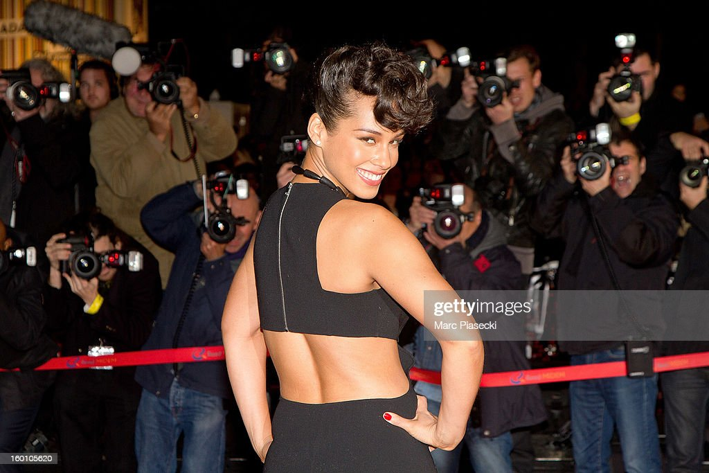 Singer Alicia Keys attends the NRJ Music Awards 2013 at Palais des Festivals on January 26, 2013 in Cannes, France.