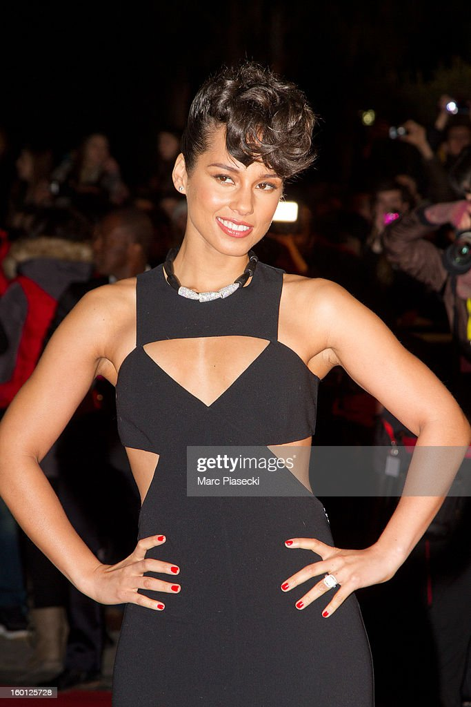Singer <a gi-track='captionPersonalityLinkClicked' href=/galleries/search?phrase=Alicia+Keys&family=editorial&specificpeople=169877 ng-click='$event.stopPropagation()'>Alicia Keys</a> attends the NRJ Music Awards 2013 at Palais des Festivals on January 26, 2013 in Cannes, France.