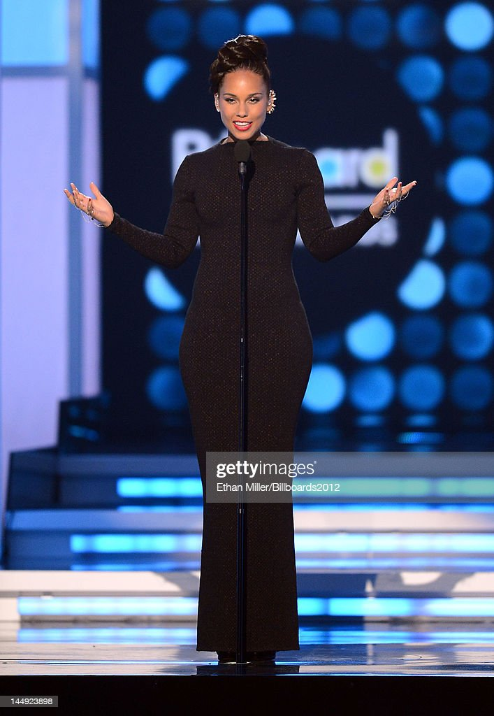 Singer <a gi-track='captionPersonalityLinkClicked' href=/galleries/search?phrase=Alicia+Keys&family=editorial&specificpeople=169877 ng-click='$event.stopPropagation()'>Alicia Keys</a> performs onstage at the 2012 Billboard Music Awards held at the MGM Grand Garden Arena on May 20, 2012 in Las Vegas, Nevada.
