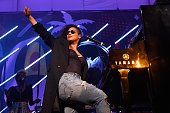 Singer Alicia Keys performs onstage at The Dean Collection X BACARDI Untameable House Party on December 3 2015 in Miami Florida
