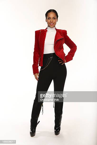 Singer Alicia Keys poses for a portrait during the 39th Annual People's Choice Awards at Nokia Theatre LA Live on January 9 2013 in Los Angeles...