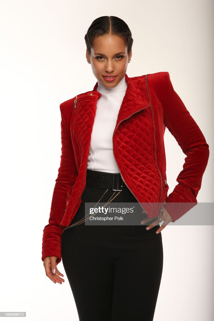 Singer Alicia Keys poses for a portrait during the 39th Annual People's Choice Awards at Nokia Theatre L.A. Live on January 9, 2013 in Los Angeles, California.