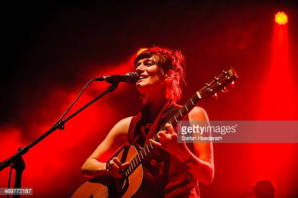 Singer Alin Coen of Alin Coen Band performs live during a concert at Huxleys Neue Welt on February 16 2014 in Berlin Germany