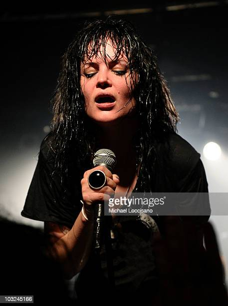Singer Alison Mosshart of The Dead Weather performs at Don Hill's on August 4 2010 in New York City