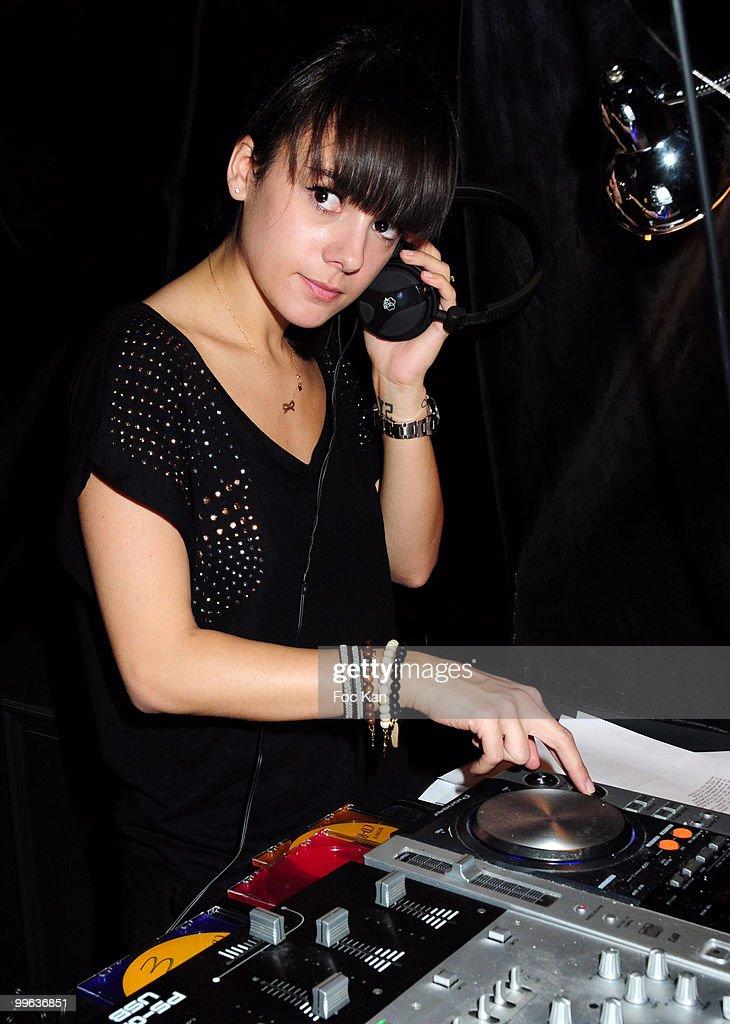 Singer Alizee (Alizee Jacotey) attends the Alizee DJ Set at the Curio Parjor Club on April 16, 2010 in Paris, France.