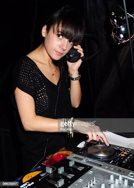 Singer Alizee attends the Alizee DJ Set at the Curio Parjor Club on April 16 2010 in Paris France
