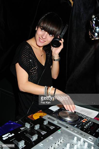 Singer Alizee attends the 'Alizee DJ Set at the Curio Parjor Club on April 16 2010 in Paris France