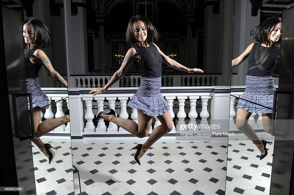 Singer Alizee is photographed for Paris Match on November 24, 2013 in Paris, France.
