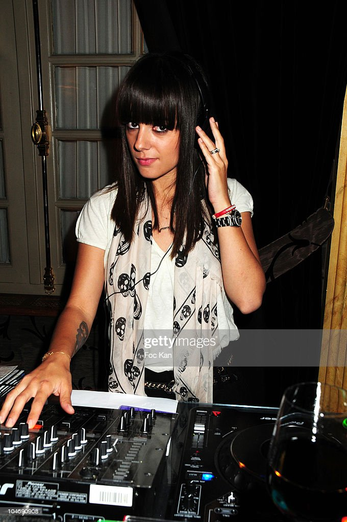 Singer Alizee (Alizee Jacotey) performs during the Ritz Bar DJ Selector Cocktail Party With Alizee at the Le Ritz Bar on June 17, 2010 in Paris, France.
