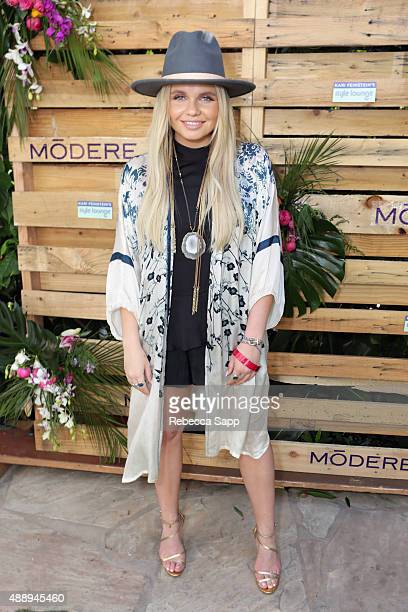 Singer Alli Simpson attends Kari Feinstein's Style Lounge at Sunset Marquis Hotel Villas on September 18 2015 in West Hollywood California