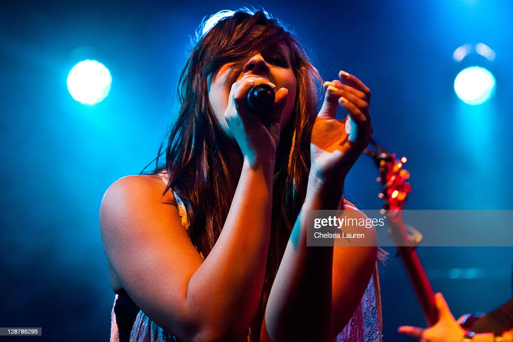 Singer Allison Park performs at El Rey Theatre on October 7, 2011 in Los Angeles, California.