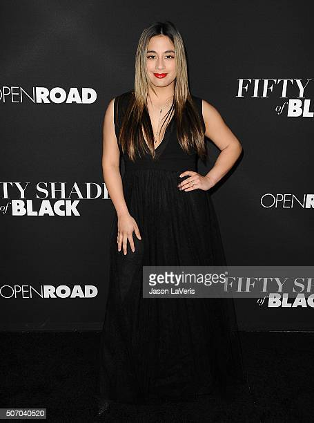 Singer Ally Brooke attends the premiere of 'Fifty Shades of Black' at Regal Cinemas LA Live on January 26 2016 in Los Angeles California