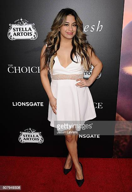 Singer Ally Brooke attends the premiere of 'The Choice' at ArcLight Cinemas on February 1 2016 in Hollywood California