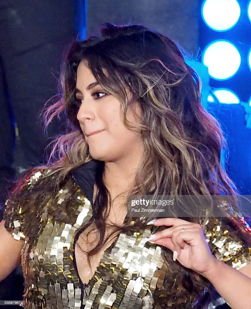 Singer <a gi-track='captionPersonalityLinkClicked' href=/galleries/search?phrase=Ally+Brooke&family=editorial&specificpeople=9748330 ng-click='$event.stopPropagation()'>Ally Brooke</a> of band Fifth Harmony performs On NBC's 'Today' at Rockefeller Plaza on May 30, 2016 in New York City.