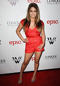Singer Ally Brooke of Fifth Harmony attends Meghan Trainor's record release party for her debut album 'Title' at Warwick on January 13 2015 in...