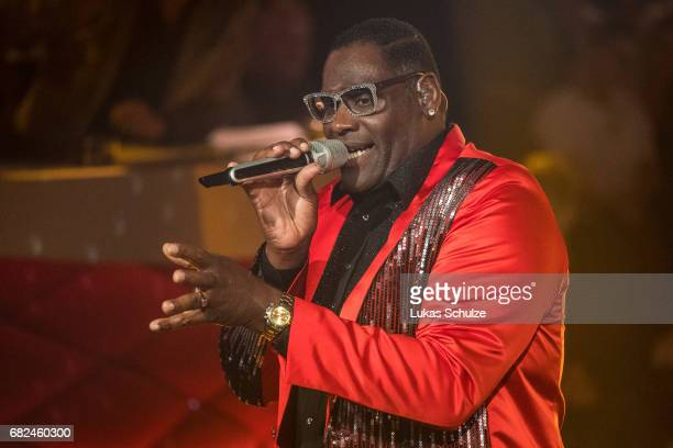 Singer Alphonso Williams performs on stage during the 8th show of the tenth season of the television competition 'Let's Dance' on May 12 2017 in...