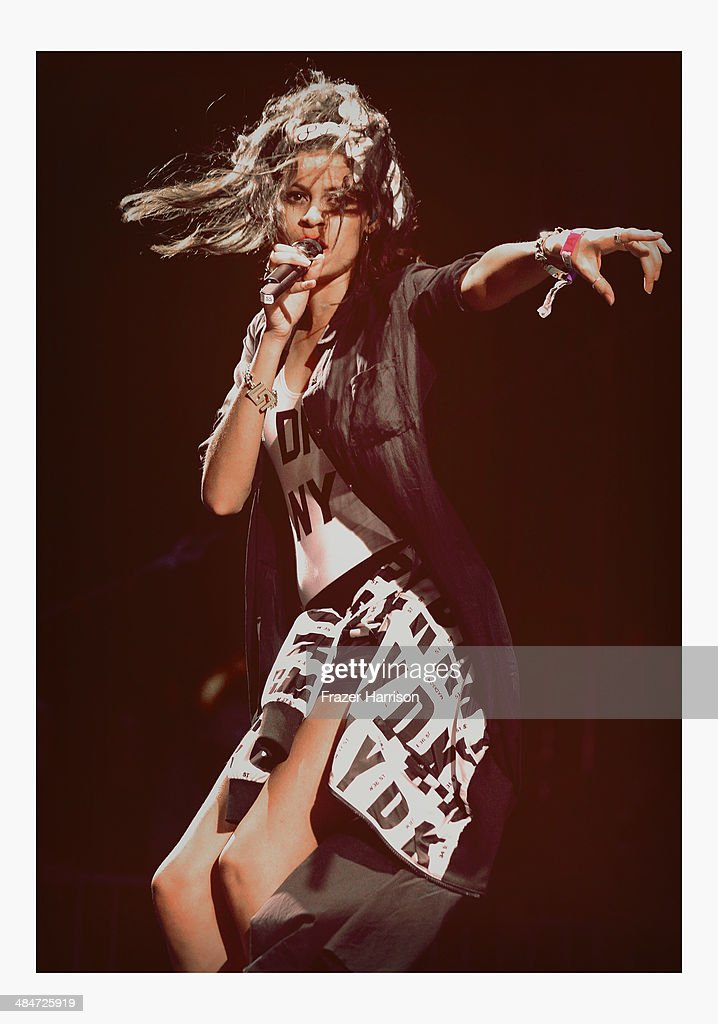 Singer Aluna Francis of AlunaGeorge performs onstage during day 3 of the 2014 Coachella Valley Music & Arts Festival at the Empire Polo Club on April 13, 2014 in Indio, California.
