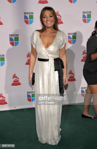 Singer Amaia Montero attends the 10th Annual Latin GRAMMY Awards held at the Mandalay Bay Events Center on November 5 2009 in Las Vegas Nevada