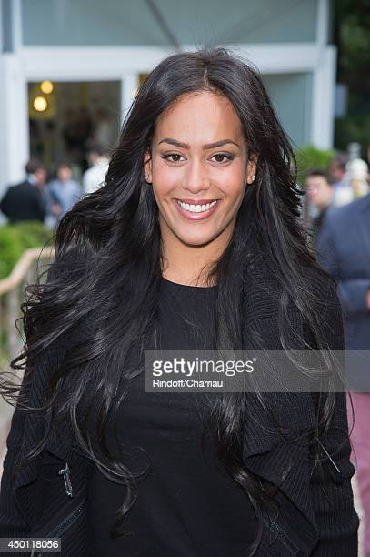 Singer Amel Bent attend the Roland Garros French Tennis Open 2014 Day 12 at Roland Garros on June 5 2014 in Paris France