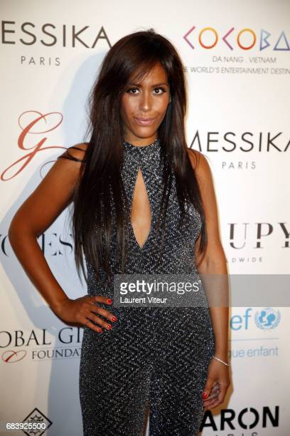 Singer Amel Bent attends Global Gift Gala 2017 at Hotel George V on May 16 2017 in Paris France