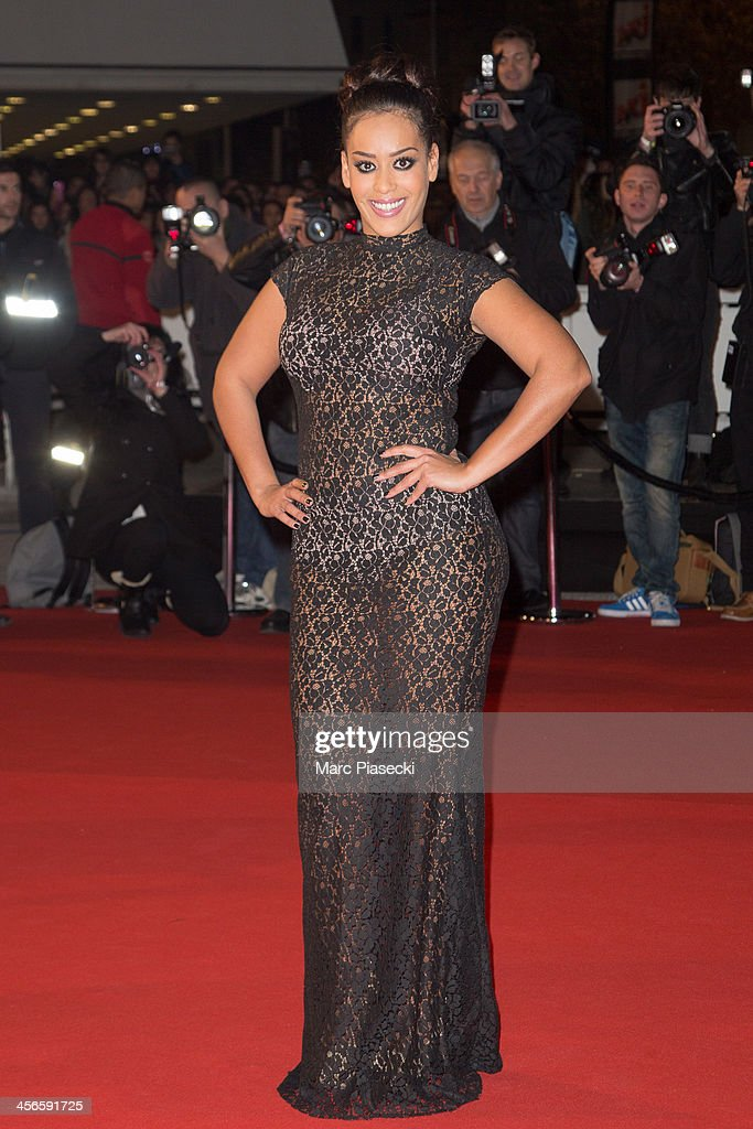 Singer Amel Bent attends the 15th NRJ Music Awards at Palais des Festivals on December 14, 2013 in Cannes, France.