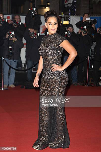 Singer Amel Bent attends the 15th NRJ Music Awards at Palais des Festivals on December 14 2013 in Cannes France