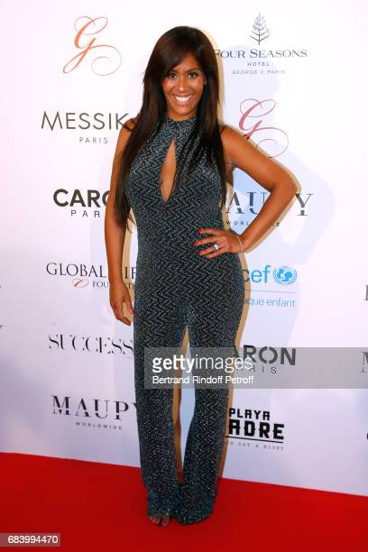 Singer Amel Bent attends the 'Global Gift the Eva Foundation' Gala Photocall at Hotel George V on May 16 2017 in Paris France