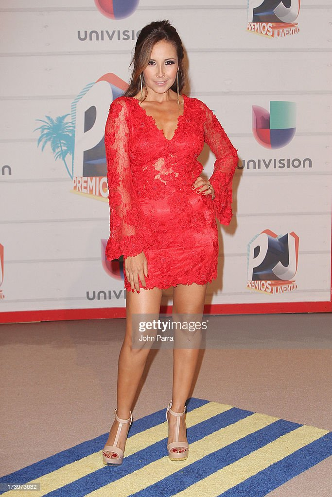 Singer America Sierra attends the Premios Juventud 2013 at Bank United Center on July 18, 2013 in Miami, Florida.