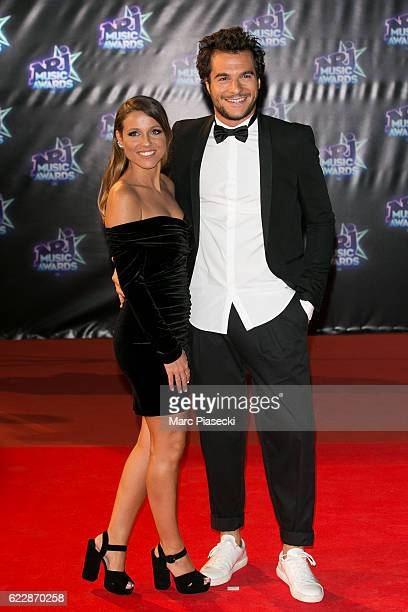 Singer Amir Haddad aka Amir and wife Lital attend the 18th NRJ Music Awards at Palais des Festivals on November 12 2016 in Cannes France
