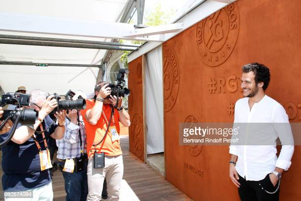 Singer Amir Haddad attends the 2017 French Tennis Open Day Height at Roland Garros on June 4 2017 in Paris France