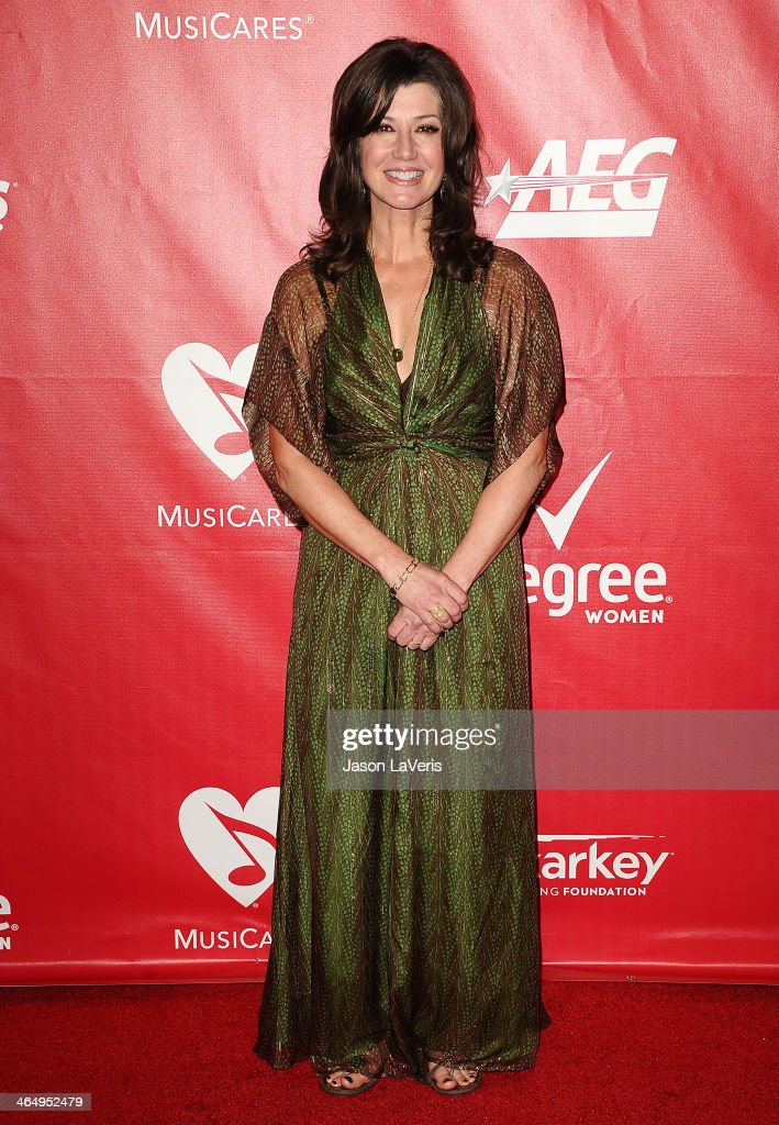 Singer Amy Grant attends the 2014 MusiCares Person of the Year honoring Carole King at Los Angeles Convention Center on January 24, 2014 in Los Angeles, California.
